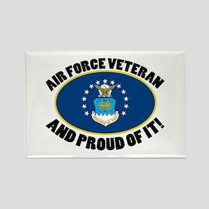 Proud Air Force Veteran Rectangle Magnet