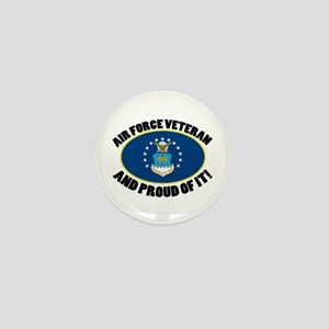 Proud Air Force Veteran Mini Button