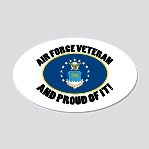 Proud Air Force Veteran 20x12 Oval Wall Decal