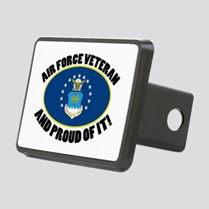 Proud Air Force Veteran Rectangular Hitch Cover