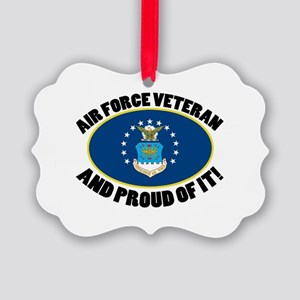Proud Air Force Veteran Picture Ornament