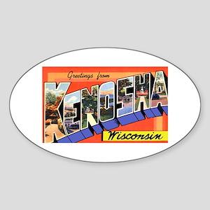 Kenosha Wisconsin Greetings Oval Sticker