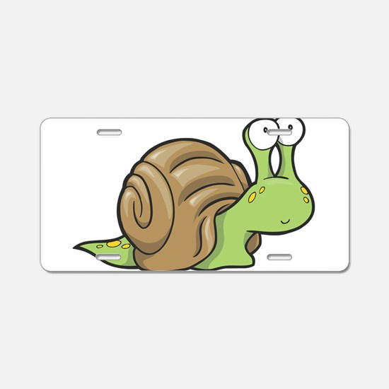 Spotted Snail Aluminum License Plate
