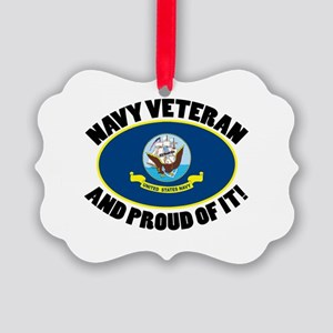 Proud Air Force Veteran Picture Ornament