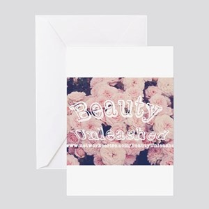 Beauty Unleashed Logo Greeting Card