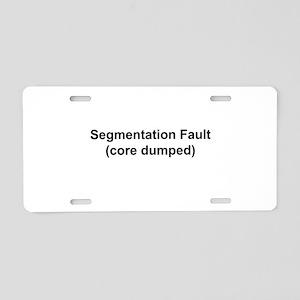 Segmentation Fault Aluminum License Plate