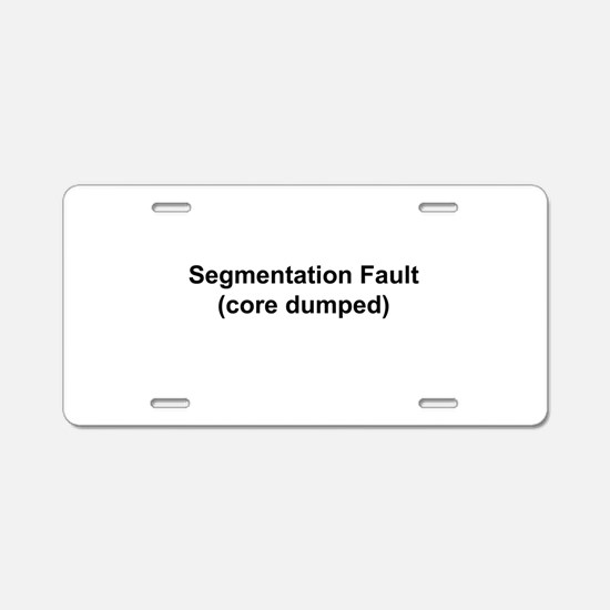 Segmentation Fault Aluminum License Plate