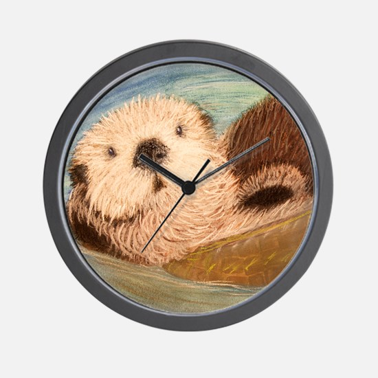 Sea Otter--Endangered Species Wall Clock