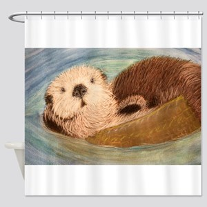 Sea Otter--Endangered Species Shower Curtain