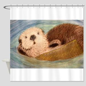 Sea Otter--Endangered Species Shower Curtain