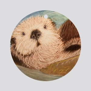 Sea Otter--Endangered Species Round Ornament