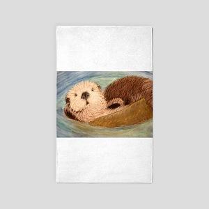 Sea Otter--Endangered Species Area Rug