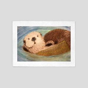 Sea Otter--Endangered Species 5'x7'Area Rug