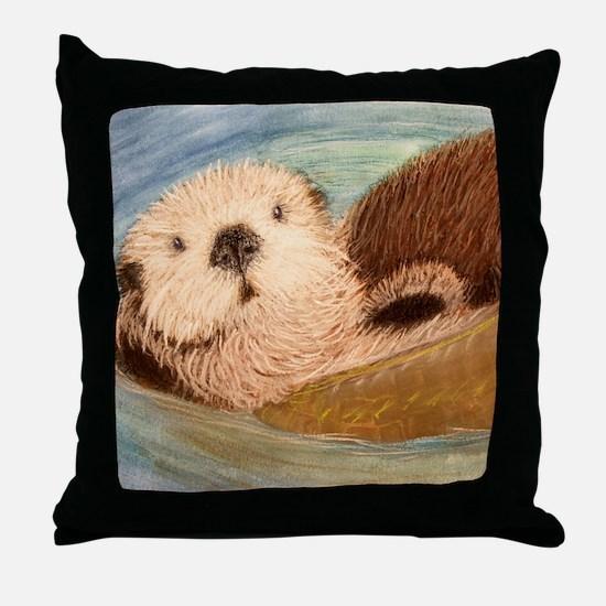 Sea Otter--Endangered Species Throw Pillow