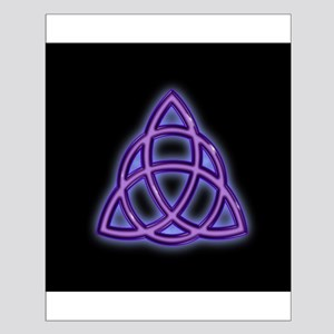 Charmed Triquetra Trinity Symbol (scblack) Posters