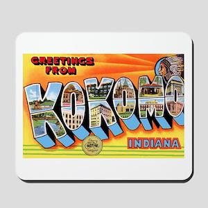 Kokomo Indiana Greetings Mousepad