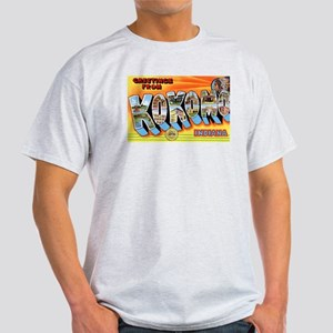 Kokomo Indiana Greetings (Front) Ash Grey T-Shirt