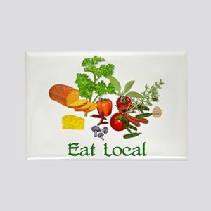 Eat Local Grown Produce Rectangle Magnet