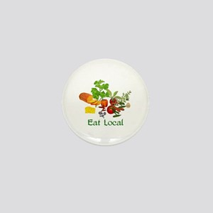 Eat Local Grown Produce Mini Button