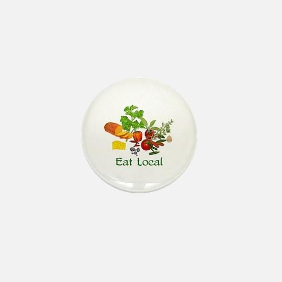 Eat Local Grown Produce Mini Button