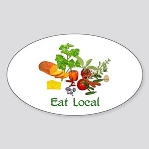 Eat Local Grown Produce Sticker (Oval)
