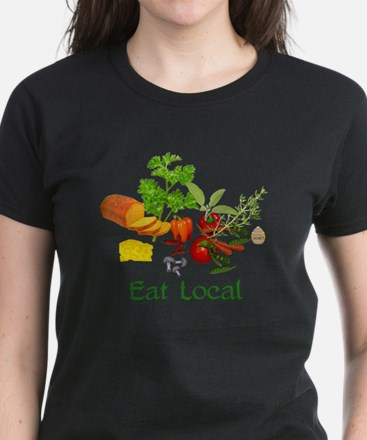 Eat Local Grown Produce Women's Dark T-Shirt