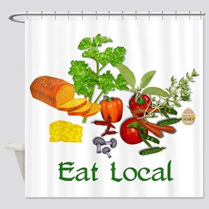 Eat Local Grown Produce Shower Curtain