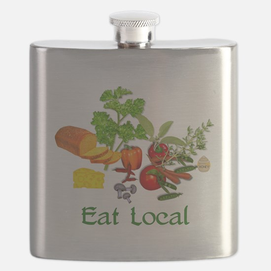 Eat Local Grown Produce Flask