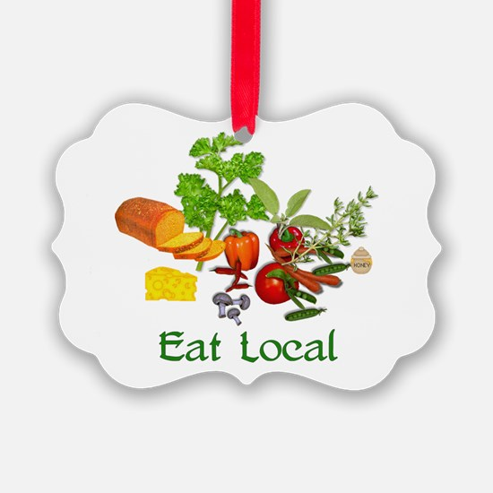 Eat Local Grown Produce Ornament