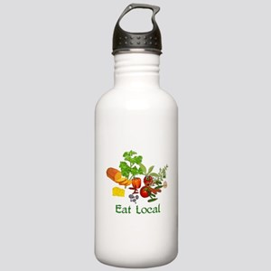 Eat Local Grown Produce Stainless Water Bottle 1.0