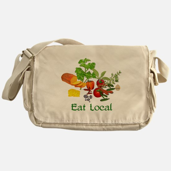 Eat Local Grown Produce Messenger Bag