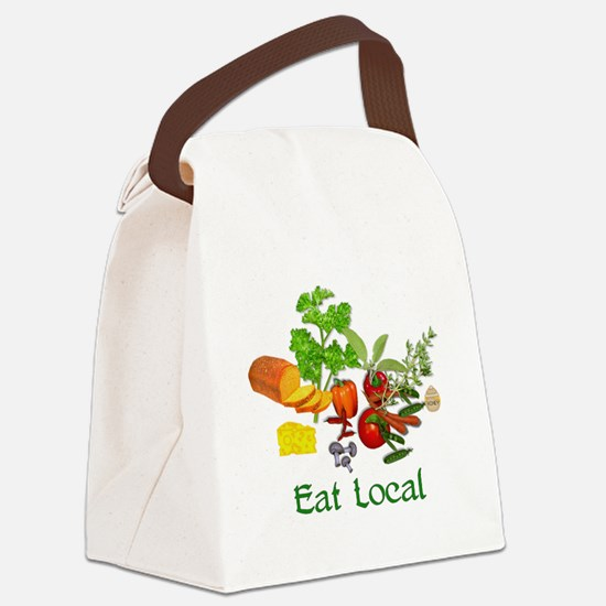 Eat Local Grown Produce Canvas Lunch Bag