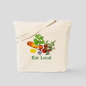 Eat Local Grown Produce Tote Bag