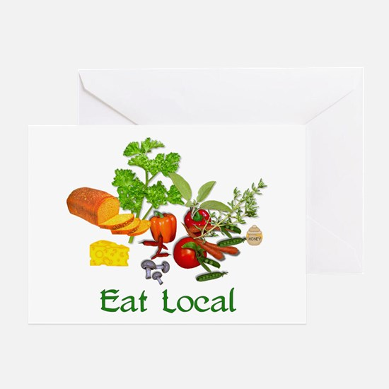 Eat Local Grown Produce Greeting Card