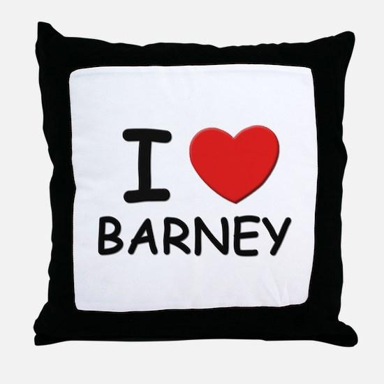 I love Barney Throw Pillow