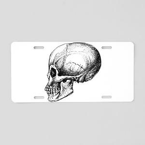 Anatomical Skull Aluminum License Plate
