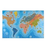 The Map of Health Postcards (Package of 8)