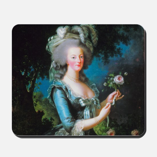 Marie Antoinette with Rose Mousepad