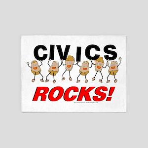 Civics Rocks 5'x7'Area Rug