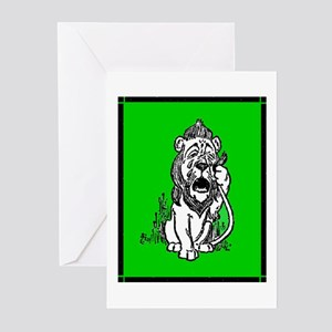 Cowardly Lion 2 Greeting Cards (Pk of 10)