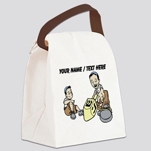 Personalized Spinning The Dradle Canvas Lunch Bag