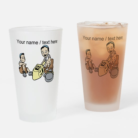 Personalized Spinning The Dradle Drinking Glass