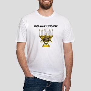 Personalized Star Of David Menorah T-Shirt