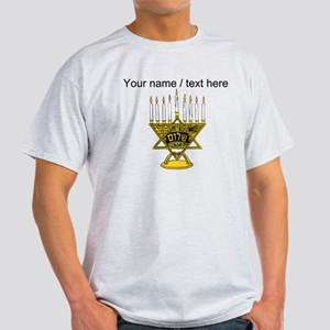 Personalized Star Of David Menorah T-Shirt