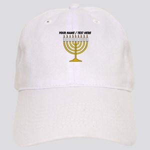 Personalized Menorah Candle Baseball Cap