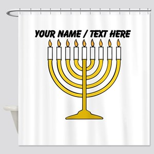 Personalized Menorah Candle Shower Curtain