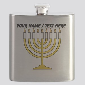 Personalized Menorah Candle Flask