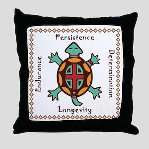 Turtle animal spirit Throw Pillow