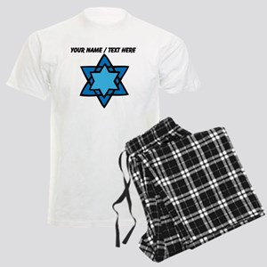 Personalized Blue Star Of David Pajamas