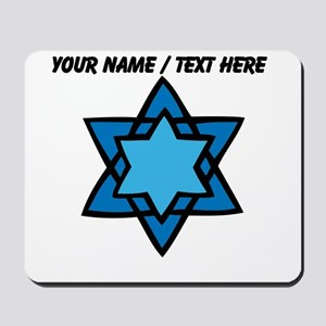 Personalized Blue Star Of David Mousepad